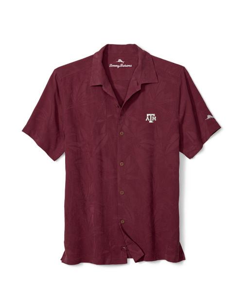 Tommy Bahama Men's Maroon Sport Al Fresco Tropics Short Sleeve Jacquard