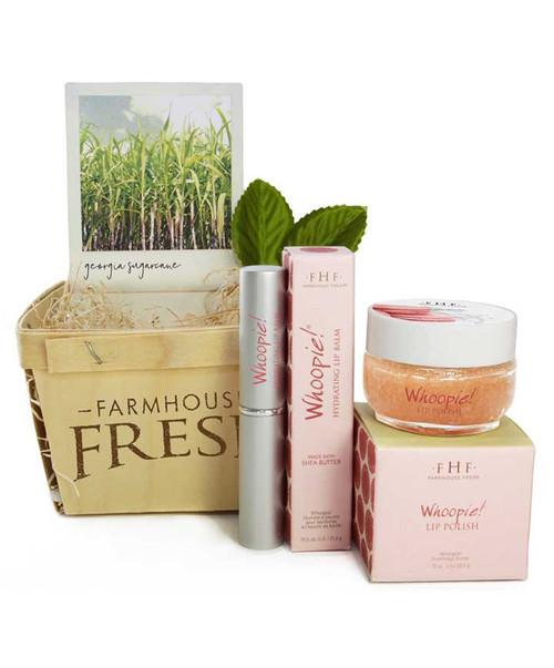 Farmhouse Fresh Whoopie Lip Balm and Lip Polish Gift Basket