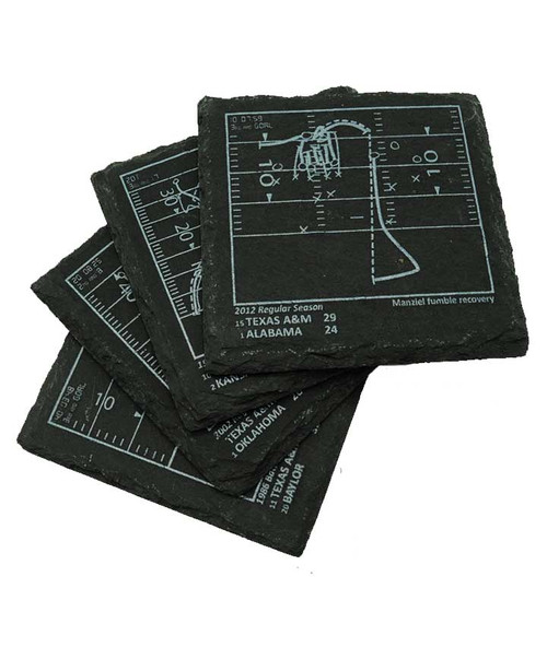 Playbook Products Set of 4 Slate Coasters