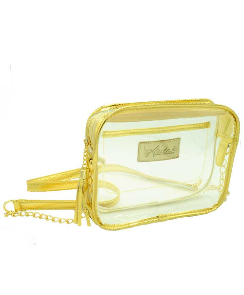 Klutch Women's Gold Stadium Approved Clear Bag
