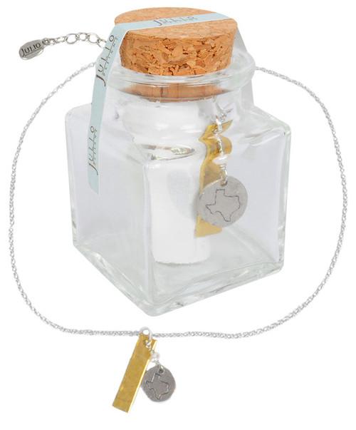 Julio Designs Women's Silver Landmark Necklace Bottle