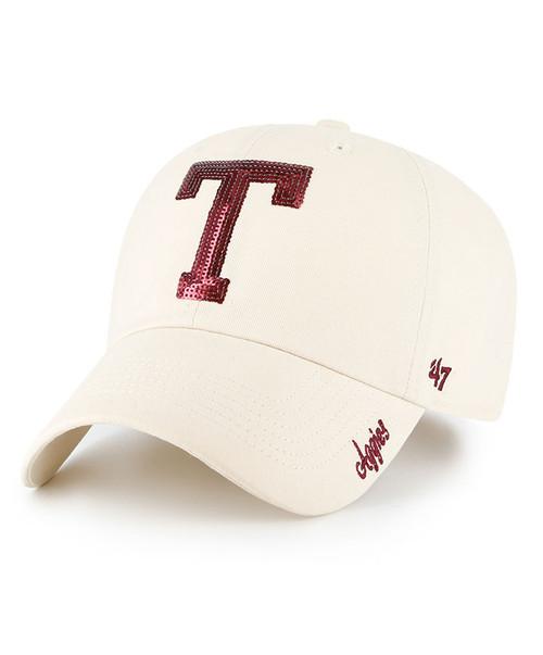 Texas A&M Aggies 47 Brand Womens Sparkle Block T Adjustable Clean Up Cap