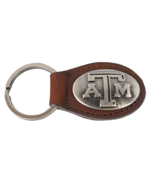 Zep-Pro Leather Concho Oval Keychain