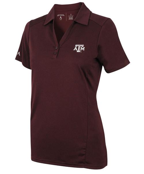 Texas A&M Aggies Antigua Women's Tribute Short Sleeve Polo