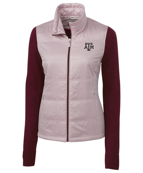 Maroon Cora Quilted Sweater Jacket - Womens | Cutter & Buck