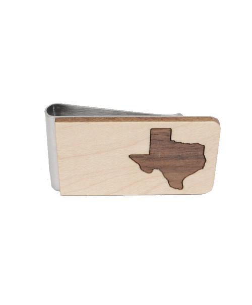 Maple Wooden Texas Money Clip