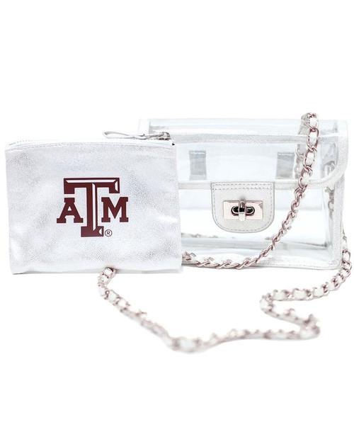 Texas A&M Aggies Sheer Gear Annie Clear Convertible Crossbody Fanny Pack