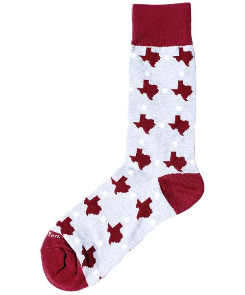 Men's Maroon Texas Pride Socks