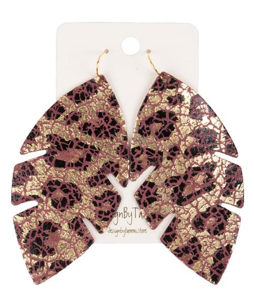 Women's Leopard Leaf Earring
