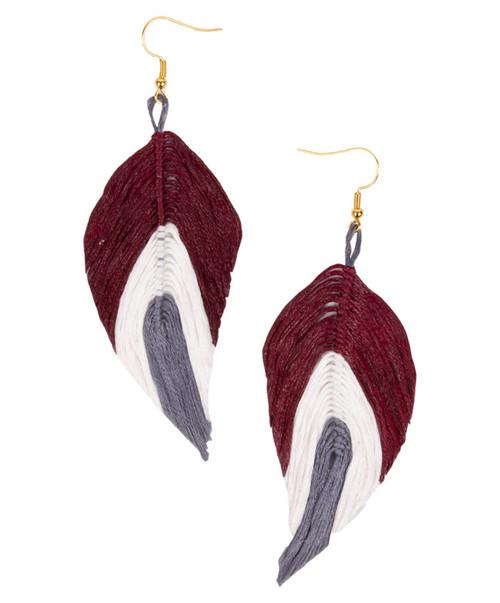 Women's Gold Feather Earrings