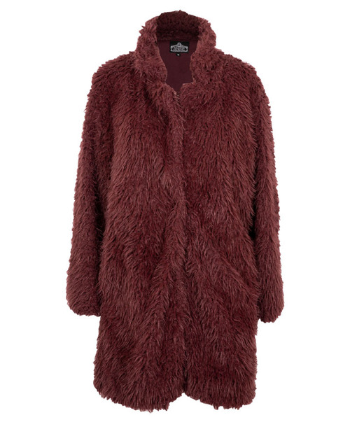 Angie Women's Faux Fur Longline Coat