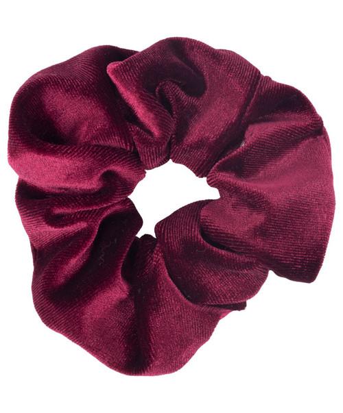 Women's Maroon Velvet Scrunchie