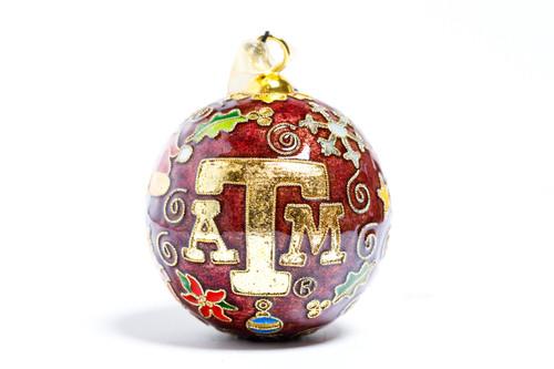Kitty Keller Maroon Icons Christmas Ornament