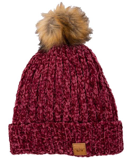 Women's Chenille Knit Pom Beanie