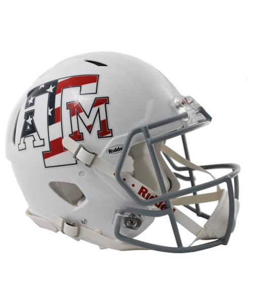 Riddell White Stars and Stripes Speed Authentic Football Helmet