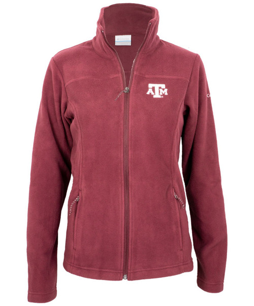 Columbia Women's Maroon Give and Go II Full Zip Fleece Jacket-2
