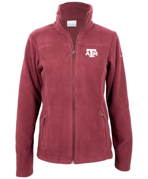 Columbia Women's Maroon Give and Go II Full Zip Fleece Jacket-1