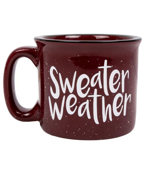 Maroon Sweater Weather 15 Ounce Campfire Mug