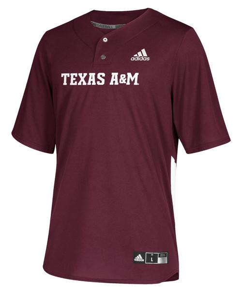 Adidas Youth Maroon Diamond Elite 2-Button Baseball Jersey