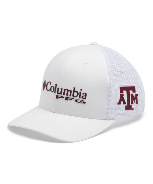 Columbia Men's White PFG Mesh Snapback Ball Cap