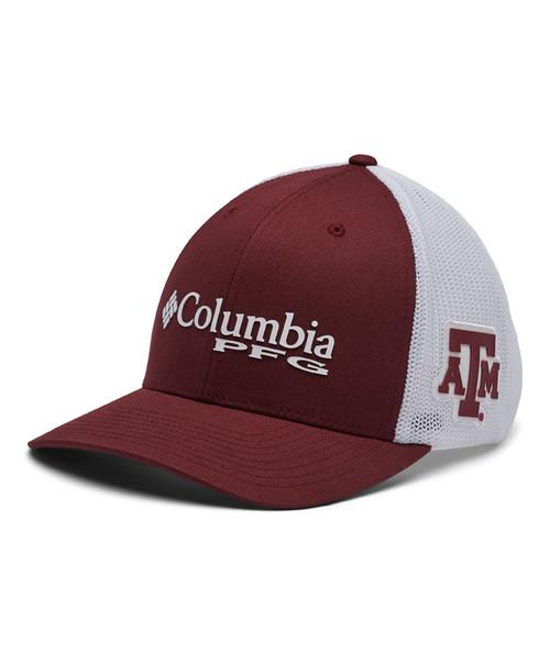 Columbia Men's Maroon PFG Mesh Snapback Ball Cap