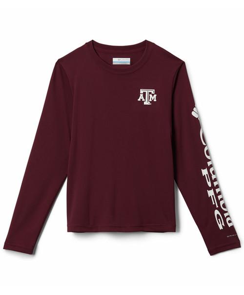 Texas A&M Aggies Columbia Men's Maroon Terminal Tackle Long Sleeve Shirt