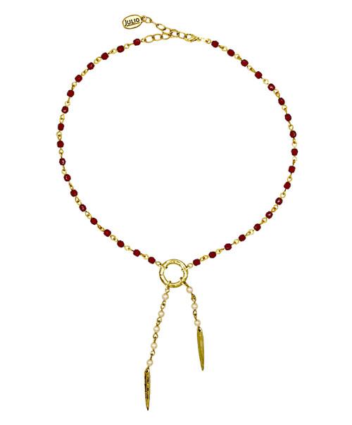 Julio Designs Women's Gold Galaxy Spike Necklace