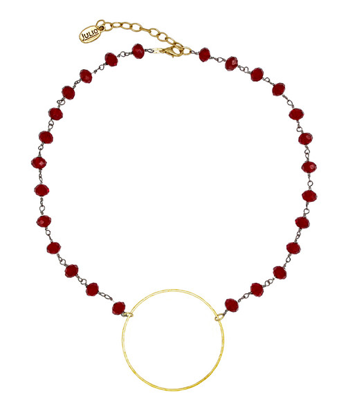 Julio Designs Women's Gold Booster Crystal Chain Necklace