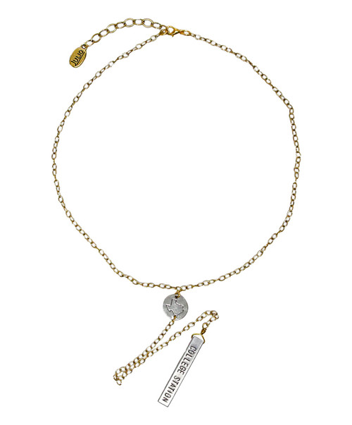Julio Designs Women's Tangent Gold Texas Necklace