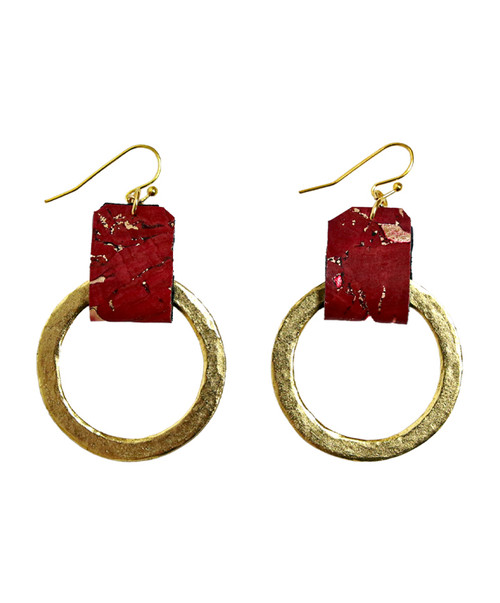Julio Designs Women's Gold Small Cork Earring