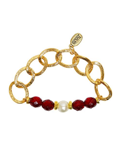 Julio Designs Women's Gold Skittles Chain Bracelet