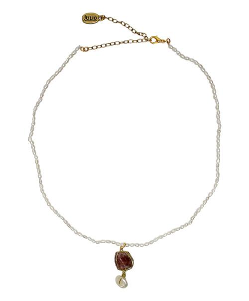 Julio Designs Women's Gold Caviar Pearl Necklace