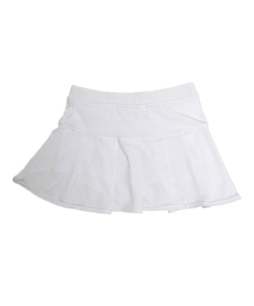 Azarhia Youth White Tennis Skirt