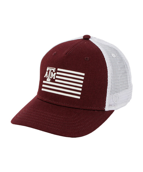 Top of the World Men's Maroon and White Here Flag Snapback Cap