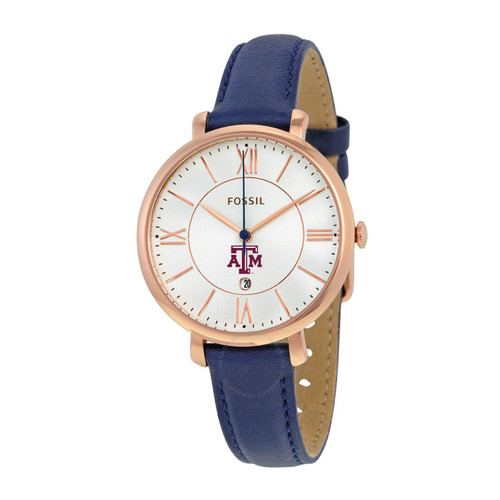 Fossil Women's Jacqueline Navy Leather Watch