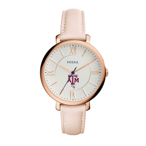Fossil Women's Jacqueline Blush Leather Watch