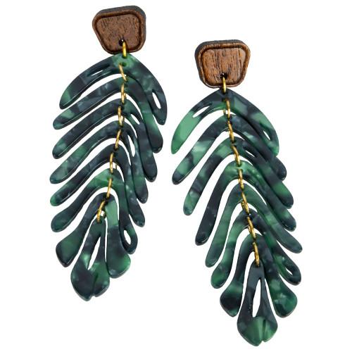 Uniquely Mesquite Women's Leaf Acrylic Earrings