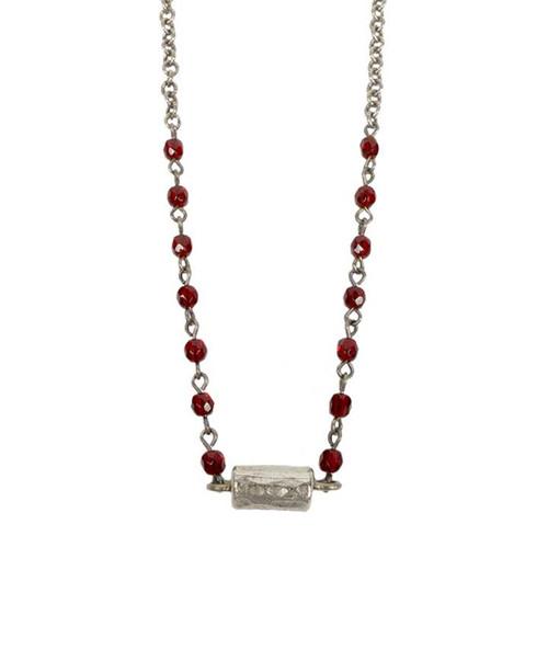 Julio Designs Women's Silver Cannoli Necklace