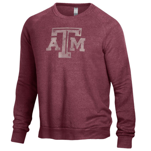 Alternative Apparel Men's Maroon The Champ Long Sleeve Pullover