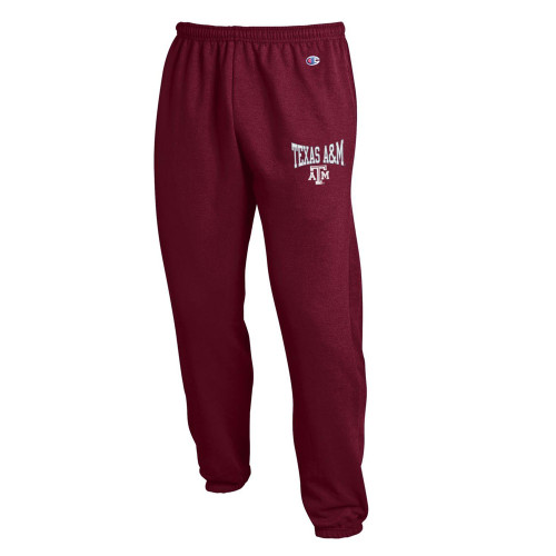 Champion Men's Maroon Eco Powerblend Banded Pant