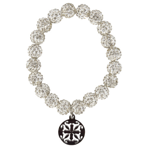 Rustic Cuff Women's Silver & White Emerson Bracelet