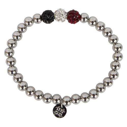 Rustic Cuff Women's Silver Tri-Color Ireland Bracelet