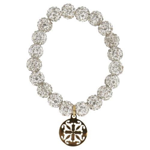 Rustic Cuff Women's White & Gold Emerson Bracelet