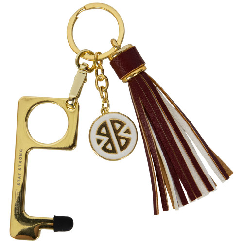 Pieces of Me Maroon and White Don't Touch That Keychain
