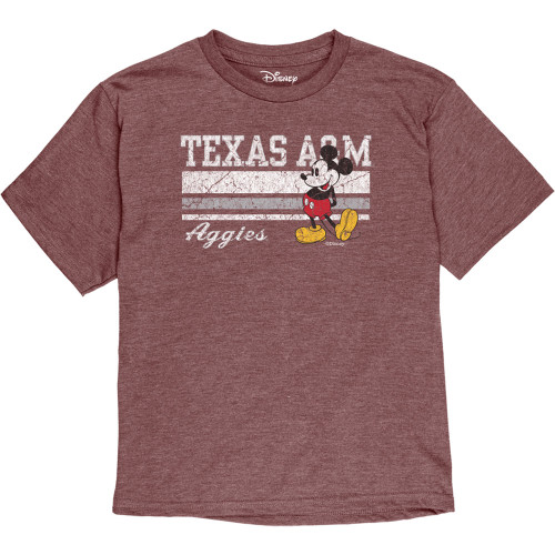 Texas A&M Aggies Blue 84 Youth Disney Ringpun Short Sleeve Tee