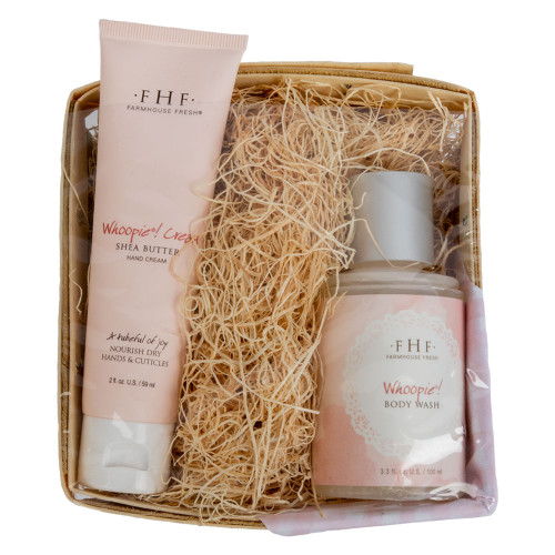 Farmhouse Fresh Whoopie Harvest Gift Basket with Body Wash