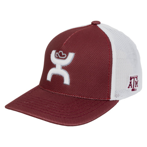 Hooey Maroon and White Two Tone Flex Fit Cap