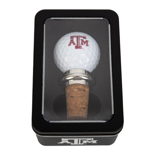 Texas A&M Aggies Team Golf Ball Cork Winestopper Gift Tin