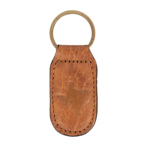 Texas Leather Embossed Keychain