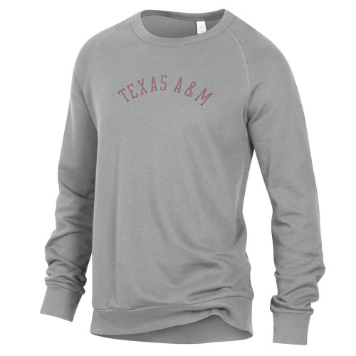 Alternative Apparel Men's Light Grey Washed Terry Champ Pullover